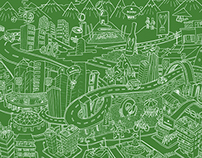 HEINEKEN Wall Graphic look for offices Chile