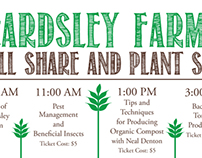 Beardsley Farm Skill Share Poster