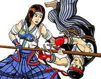 Aikijujutsu Fighting game characters