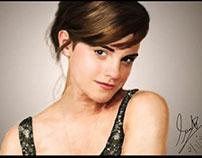 Digital painting Emma Watson