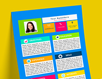 Kids - My First Resume - FREE Resume template