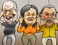 Caricature: Toxicity test in presidential ellections