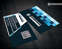 Free Corporate Square Abstract Business Card Template
