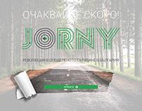 Jorny website design