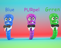 Learn Color with worm