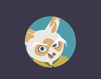 Site web pour le film d'animation Kungfu panda