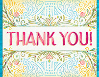 Floral Watercolor Thank You Cards