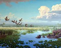 International Crane Foundation, African Cranes Mural