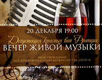 Poster for Restaurant Side. The evening of live music