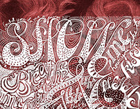 Lettering and Hair Studies