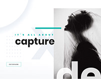 """Unique"" Photography Agency Website Design"