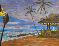 Ruby Tuesday - Taste of the Islands - Chalk Artwork