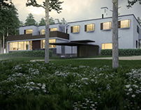 Alvar Aalto, Villa Mairea at Dusk