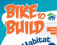 Bike To Build promotional poster.
