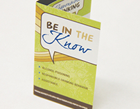 Be In The Know - Alcohol Education Brochure