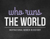 Who Runs The World Branding + Campaign