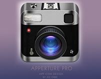 Apperture Pro | Photo App Icon Concept Design