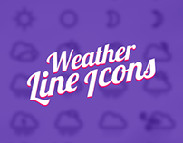 Weather Line Icons Design