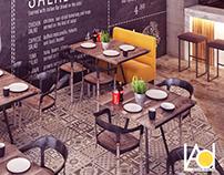 Semi - Industrial Restaurant Design