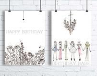 Shiv Illustration / Birthday Greeting Cards