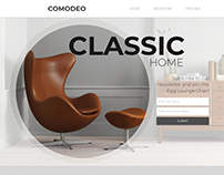 Egg Lounge Chair Landing Page