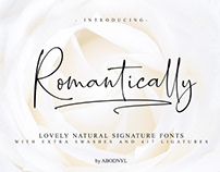 FREE | Romantically - The Lovely Natural Signature Font