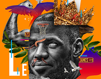 LeBron James Abstract Design