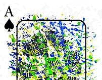 A Memorial Playing card for Jackson Pollock