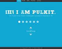 UI Design for a Front End Developer Portfolio Website