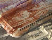 Arabescato Orobico Rosso Marmortisch