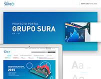 Portal web Grupo SURA - UX UI