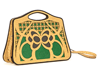 "Eco-friendly bag ""Farfalla"" made with cork and paper"