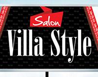 banner salon villa style