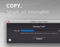 Carbon Copy Cloner – Redesign Study