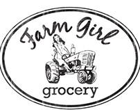 Farm Girl Grocery Logo Design