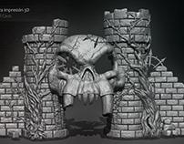 Modelado 3D para impresión de escenografía