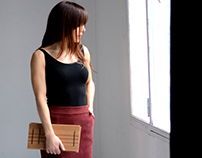 Rectangular Wooden Clutch