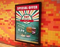 """Poster """"Fat Burger Pub"""""""