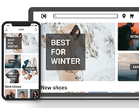 Design of the clothing store's website and app