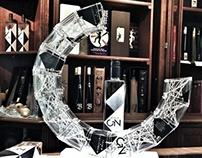 Glass sculpture for Biercee Gin
