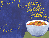 Noodles, Noodles, Noodles Cookbook Design