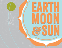 """Earth, Moon and Sun"" Poster"