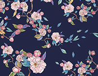 JAPANESE MOTIF/textile design