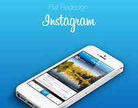 Flat Redesign: Instagram