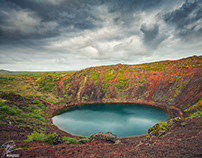 Kerið is a volcanic crater lake - ICELANd 2020