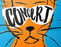 """""""LES 4 CHATS"""" — Affiches concert"""