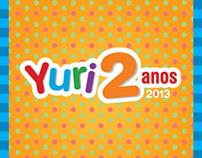 Yuri 2 Anos - Personalizacão de festa