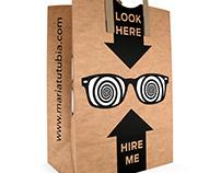 Self promoting bag