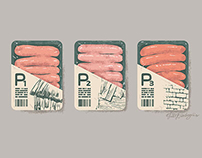 Pork sausages - Three little pigs