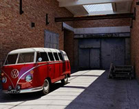 VW T1 van rendering